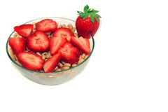 Strawberries and cereal Stock Image