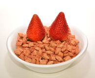 Strawberries and cereal. Stock Photos