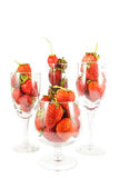 Strawberries in champagne glasses Royalty Free Stock Image