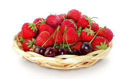 Strawberries and cherries Royalty Free Stock Photography