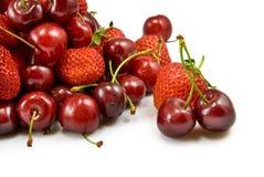 Strawberries and cherries Stock Photography