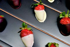 Strawberries in chocolate Royalty Free Stock Photo