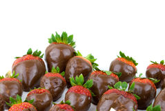 Strawberries and chocolate Royalty Free Stock Photo