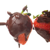 Strawberries and chocolate Royalty Free Stock Photos