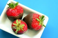 Strawberries & Chocolate Stock Photo