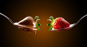 Strawberries and chocolate Royalty Free Stock Image