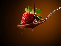 Strawberries and chocolate Royalty Free Stock Images