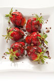 Strawberries with chocolate Royalty Free Stock Photography