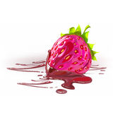 Strawberries in chocolate realistic detailed vector illustration Royalty Free Stock Image