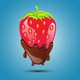 Strawberries in chocolate Stock Image