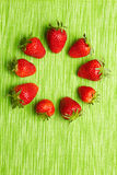 Strawberries in a circle Royalty Free Stock Photo
