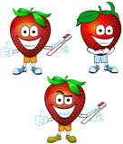 Strawberries with Clean Teeth Royalty Free Stock Photography