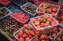 All mix berries in Russia market. royalty free stock photos