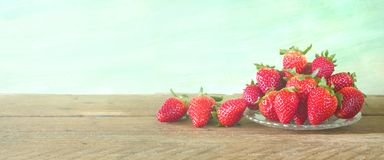 Strawberries, close up, on grungy background, Stock Images