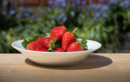 Strawberries - close up stock photography