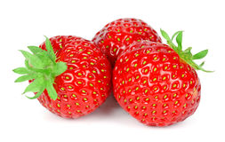 Strawberries close up on white background Royalty Free Stock Photos