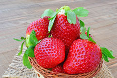 Strawberries - closeup Stock Photos