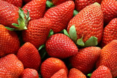 Strawberries. Close-up macro. Food market. stock photography