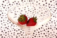 Strawberries in a cocktail glass Royalty Free Stock Images