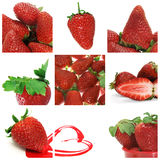 Strawberries collage Royalty Free Stock Image