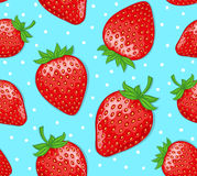 Strawberries. Colorful Seamless Pattern.  Texure Stock Photography