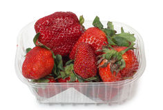 Strawberries in container Royalty Free Stock Photo