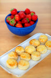 Strawberries and cookies for you Royalty Free Stock Photo
