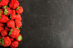 Strawberries with copy space Royalty Free Stock Photos