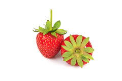 Strawberries. A couple of strawberries isolated on white background Stock Image