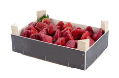 Strawberries in a crate Royalty Free Stock Photography