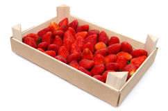 Strawberries crate Royalty Free Stock Photography