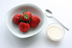Strawberries & Cream Stock Images