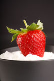 Strawberries and cream Stock Photos