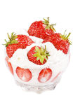 Strawberries with cream Stock Image