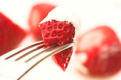Strawberries and Cream Royalty Free Stock Photo