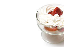 Strawberries and cream Stock Photography