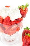 Strawberries and cream Stock Photo