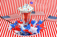 Strawberries and Cream for the Fourth of July royalty free stock photos