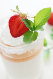 Strawberries and cream Royalty Free Stock Photography