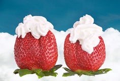 Strawberries with cream. Stock Image