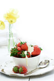 Strawberries and Cream Royalty Free Stock Photo