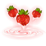 Strawberries and cream swirl Royalty Free Stock Image