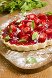 Strawberries and cream tart Royalty Free Stock Photos