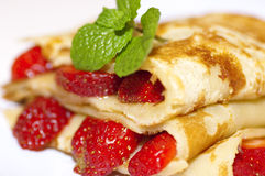 Strawberries crepe Royalty Free Stock Photo