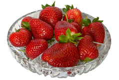 Strawberries in crystal. Stock Photos