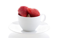 Strawberries in a cup Royalty Free Stock Image