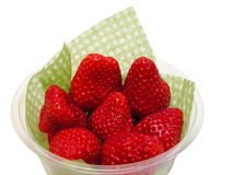 Strawberries in a cup-clipping path Stock Image