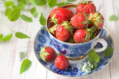 Strawberries in cup Royalty Free Stock Image