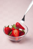 Strawberries. Cup, italian fresh fruit Royalty Free Stock Photos