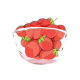 Strawberries in cup Stock Image